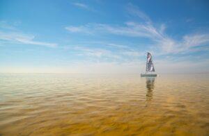 sailing, boat, shore