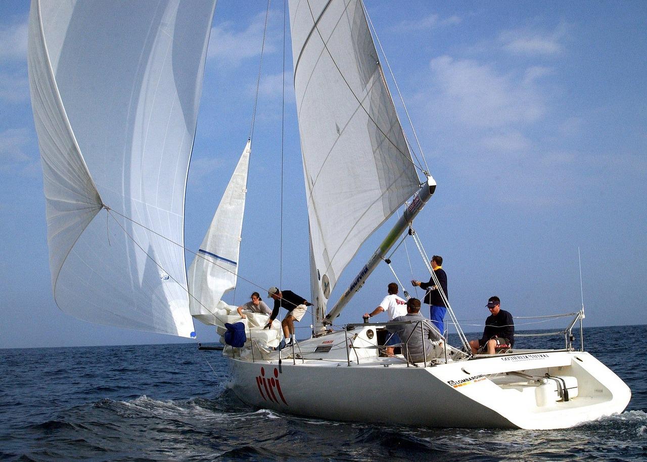 sailing, jib, sail